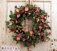 Aster and Dazzle Berry Door Wreath