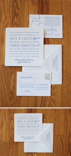 #letterpress #wedding suite #invites