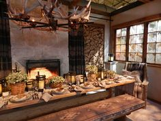 *THE ESSENCE OF THE GOOD LIFE™*: RALPH LAUREN SKI-LODGE TABLE CHIC