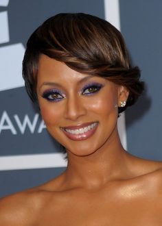 Keri Hilson Stylish French Twist Updo Hairstyle African American Updo Hairstyles 2014