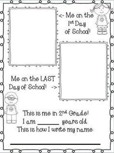 book idea, school year memory books, memori book, class year book printable, end of school presents