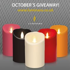 OCTOBER´S GIVEAWAY Would you like one of the Luminara candles? We feel having variety of colours in life is much more exciting than having the same choice day in and day out. - on.fb.me/1tE57E6