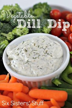Vegetable Dill Dip from SixSistersStuff.com- this is a classic! #appetizer #snack