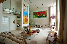 Vibrantly Colorful Malibu Duplex Apartment by Fernanda Marques Arquitetos Associados (14)
