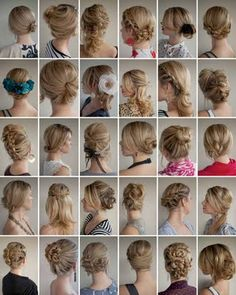 bridesmaid hair styles....yes, i want them all.