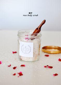DIY Rose Body Scrub
