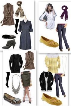 Mix & Match - A lot of variety in outfits with not that many pieces. Impressed.
