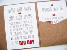 Big Day Pocketfold Invitation Suite