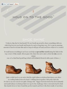 Hard Graft has released shoes!