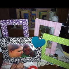Decoupage photo frames :)