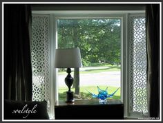 same PVC for window treatment! gives privacy without blocking light