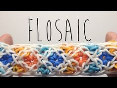 Rainbow Loom FLOSAIC Bracelet. Designed and loomed by OfficiallyLoomed. Click photo for YouTube tutorial. 04/22/14.