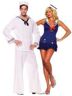 Sexy Sailor Couples Halloween Costume, Couples Costumes