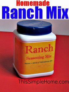 This Simple Home: Homemade Ranch Mix