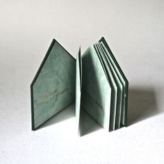Limited Edition Artist Book - Comfort House - Handbound Accordion Binding with Gold Letterpress Text. via Etsy.