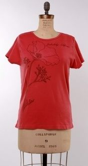 SALE!!!!! Pretty coral colored poppy shirt. 100% organic cotton, environmentally-friendly dyes.  #MadeinUSA www.nortonsusa.com