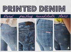 Dear Heart: [Best Dressed] Printed Denim Picks