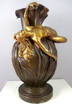 Bronze Art Nouveau Vase made by Armor Bronze Co