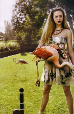 dawn, vogue italia, pink flamingos, alice in wonderland, annie leibovitz