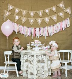 Tea Party! So cute! One Year Birthday photo shoot! © 2014 Lacy Dagerath - www.morethananimage.com