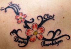 tattoo with all our names