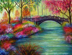 web design, art paintings, color, bones, the bridge, artist, bridges, ann mari, canva