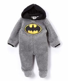 Look what I found on #zulily! Gray Batman Footie - Infant #zulilyfinds