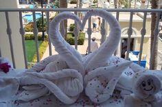 towel origami, towel fold, fold towel, towel animals