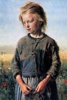 So beautiful...   Ilya Repin, Fisher Girl, 1874
