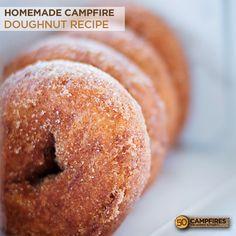 Homemade Doughnut Recipe Over The Campfire   50 Campfires