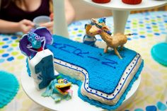 How fun is this first #birthday cake?? Look at Peanut's big smile- haha!! We love this!! Shared by Kari Lacey and created for her son's first brithday! #GBbirthday