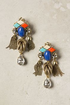 the perfect combination of retro detailing with a pop of current trend colors; Viracocha Earrings #anthropologie