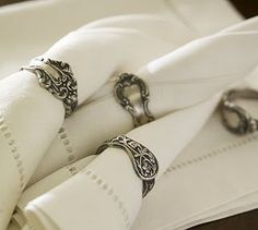 Old Spoons as Napkin Rings