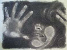"""Great Secondary Art Idea! Copy machine """"Smashed Face"""" Self Portrait in charcoal. Students look for shape and value and not so concern about getting the perfect eyes, nose etc. It works."""