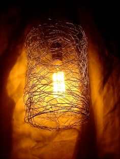 Chicken wire swag light