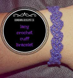 Lacy Crochet Cuff Bracelet   Free #Crochet Pattern