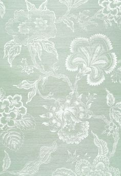 New hot house flowers sisal wallpaper from Celerie Kemble. (grasscloth, I think)   This could be fun!