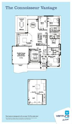 Home blueprints on pinterest floor plans house plans for Loft home designs perth