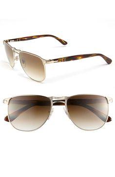 Persol Retro Double Bridge Sunglasses available at #Nordstrom