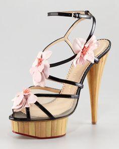 Charlotte Olympia Botanica Strappy Orchid Sandal - Neiman Marcus