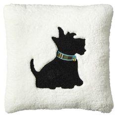 "Threshold 18x18"" Scottie Dog Pillow Turquoise"