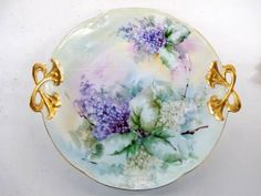 Signed Alice LHR Bavarian Hand Painted Plate