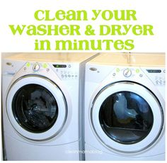 CLEAN MAMA: Clean Your Washer + Dryer in Minutes
