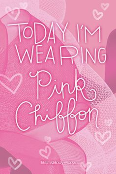 What about you? #PinkChiffon