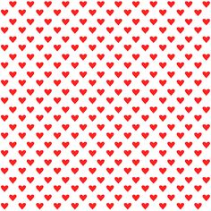 FREE printable red white heart pattern paper