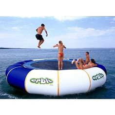 floating water trampoline :)