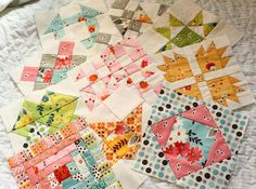 hand pieced quilt along.  SO CUTE!