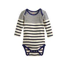 Baby one-piece in multistripe