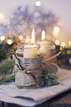 Birch candles 76 Inspiring Scandinavian Christmas Decorating Ideas - Pelfind