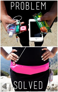 Problem Solved! Holds your phone, cards, keys, and more while you workout, go running, or do yoga!